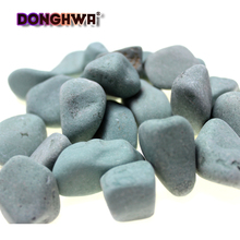 Black stone and bulk wholesale tumbled stones cobblestone for decoration garden (3-120mm)