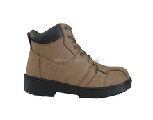 China Manufaturer Nubuck,mesh,construction site working safety shoes steel toe steel plate PU double density sole