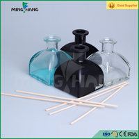 square ger shaped aroma reed diffuser glass bottle, Mongolian yurt glass bottle