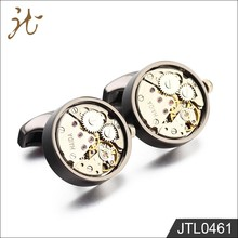 Mens SteamPunk Style Mechanism Movement Watch Cufflinks