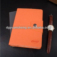 Professional custom leather bound notebook with lock