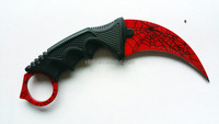 Crimson Web Counter Strike Karamit Knife, CS GO Karamit Knife with sheath