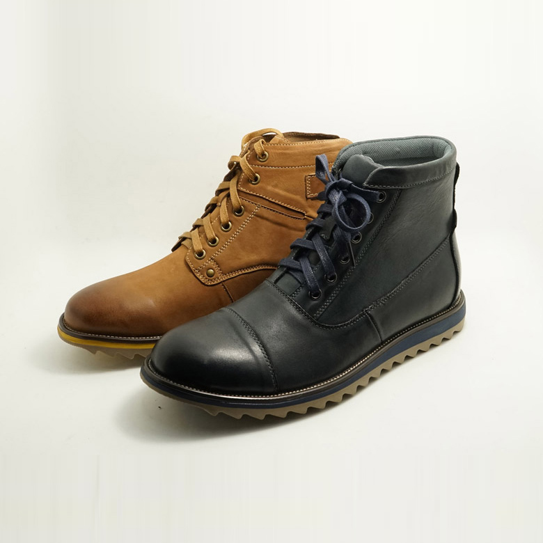 waterproof durable thick rubber sole genuine leather men hunters boots