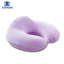 2016 New Memory Foam U Shape Travel Neck Pillow With Velour Cover