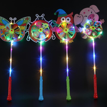 Children's toy cartoon Led light up color <strong>windmill</strong> flash animal led <strong>windmill</strong>