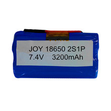 ICR18650-32A 2S1P 3200mAh 7.4V rechargeable lithium battery pack with 2 wires