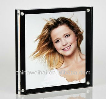 Yiwu Black Panel Acrylic magnetic photo frames