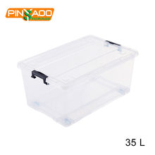 35L Factory Price Wholesale Multipurpose Plastic Storage Box With Lid