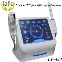 2 in 1 High intensity ultrasound face lift machin/ hifu vaginal tightening device