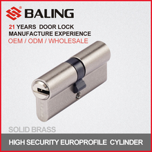 Euro profile high precision unique keyway security lock cylinder QM keyway