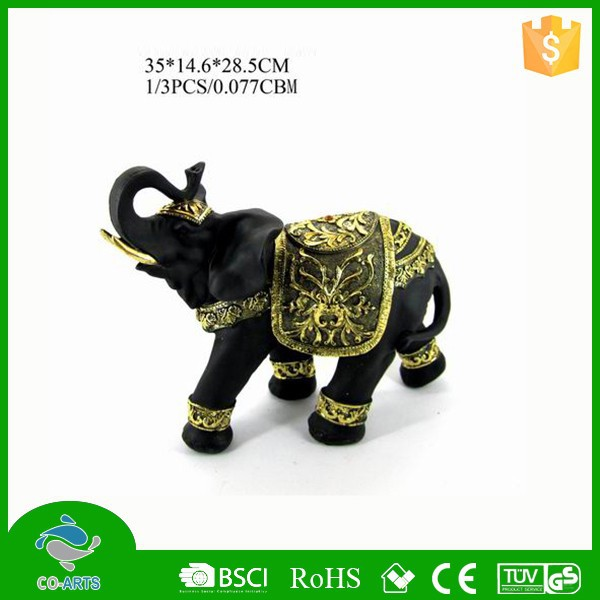 2015 new product tabletop decorative items resin elephant crafts