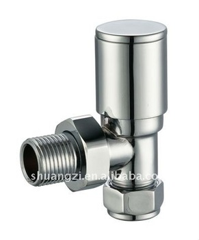 Towel Rail Angle Radiator Valves Brass Chrome Head