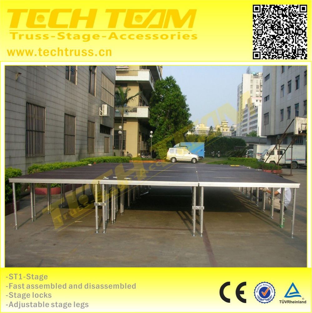 Portable wooden platform stage for trade show ,outdoor concert stage sale