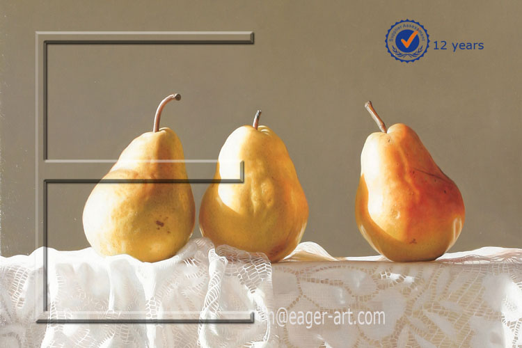 High Quality Art Gellery Handmade Canvas Fruit Oil Painting Picture