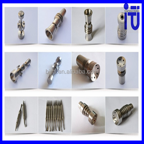 Best price of Titanium Nails Ceramic NailsDomeless titanium nail with dabbler for smoking use low