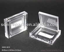 Square transparent blusher case