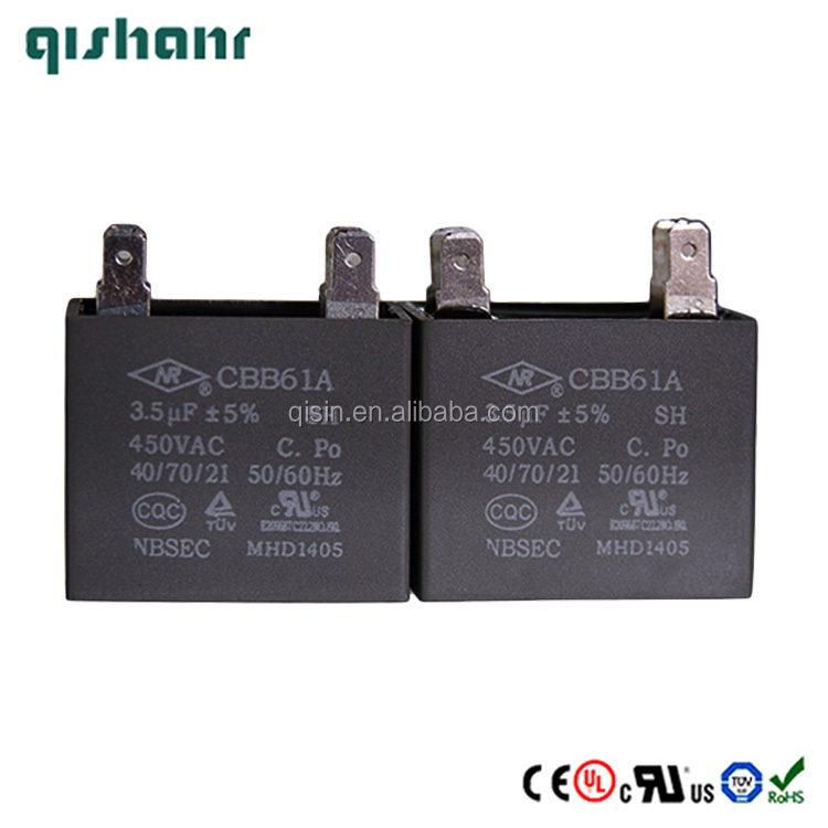 450VAC 3.5uF AC spare parts Fan Capacitor CBB61