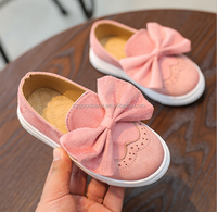Kids shoes cute Casual Sneakers Bowknot Slip On Flat shoes for Girls