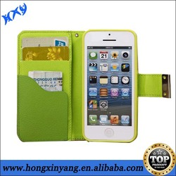 wallet case for iphone 5/triple color for iphone 5 wallet case/Credit card slot protective case for iphone 5