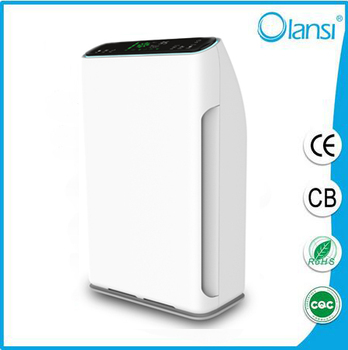 OEM fast air delivery china HEPA filter/Active Carbon filter/ionizer Air purifier with Remote control