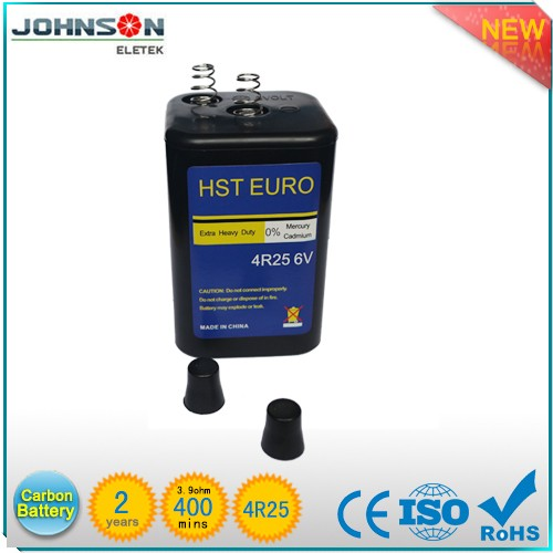4R25 Battery Carbon Zinc Battery 6v carbon zinc battery high capacity 6v