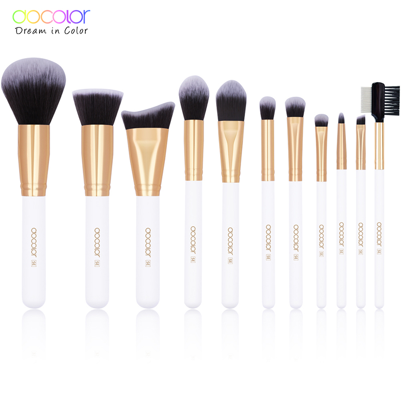 Docolor DC1105 professional synthetic hair makeup brush set <strong>beauty</strong> cosmetic tool