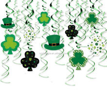 St. Patrick's day Hanging Decoration kit, clover shape lucky for Party Supplies and St. Patrick's day Celebration, new design