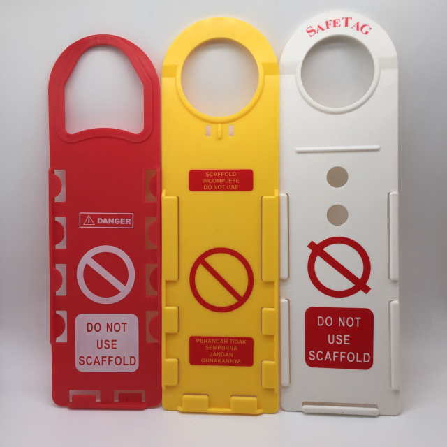 Yellow White Red High Quality <strong>ABS</strong> / PP / PVC Plastic Scafftag Scaffolding Tag Holder