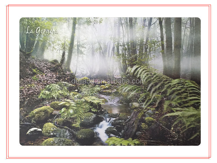 Beautiful scenery lenticular 3d picture with deep effect