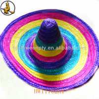 Rainbow Color Sombrero Mexican Straw Hat Party Supply