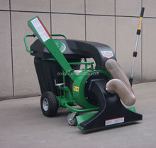 Self-propelled Gasoline powered garden vacuum chipper shredder