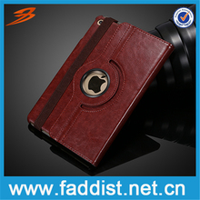 Special design rotate leather case for iPad mini 4 with card slot and stand