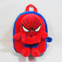 boys spiderman plush backpack for kids trolley school bag