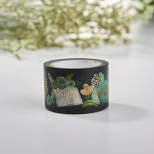 high quality custom printed washi tape gold foil tape