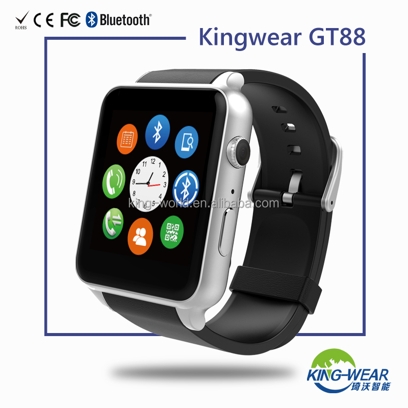 wholesale mobile smart watch phone with sim whatsapp watch phone Kingwear GT88 original factory