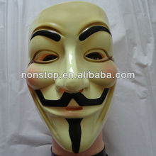 LICENSED V FOR VENDETTA MASK~RUBIES LICENSED~GUY FAWKES~ANONYMOUS~OCCUPY~OWS