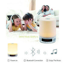 Portable wireless Smart LED Bluetooth Speaker With LED Table Lamp Alarm Clock And Hands-Free Function