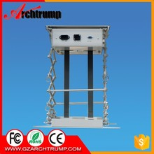CE RoHS FCC Motorized Projector Mini Scissor Lift China with Remote Control