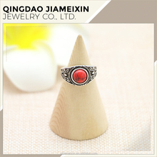 R0056 anti-gold zinc alloy Red stone latest gold wedding ring designs