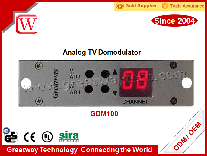 2017 GDM100 CATV,CCTV or Video Surveillance Mini Agile TV Demodulator