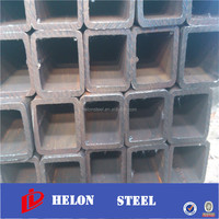 black steel pipes ! square tube with rust preventive oil 64*64 steel square tube