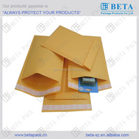 Kraft bubble mailer with self-seal