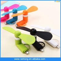 USB Fan, Portable for Android Phone Super Mute USB Cooler Micro Mini Fan For Smartphones
