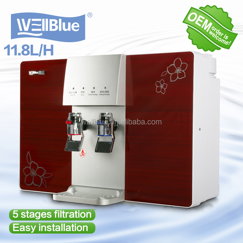 Hot and cold water filter dispenser reverse osmosis system