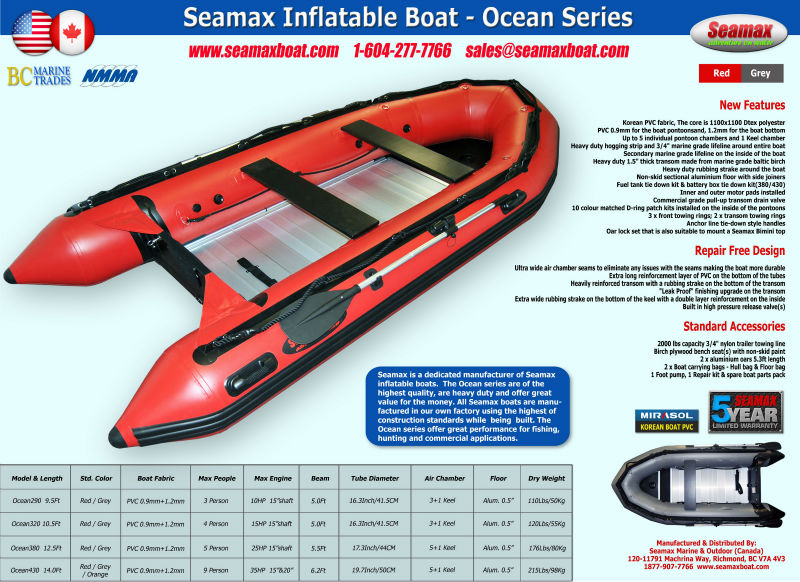 Seamax Inflatable Boat - Ocean Series