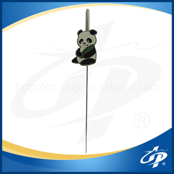 Panda charactor hook shape bookmark