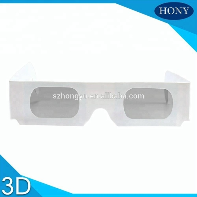 Paper 3D Glasses Linear Polarized Disposable Use