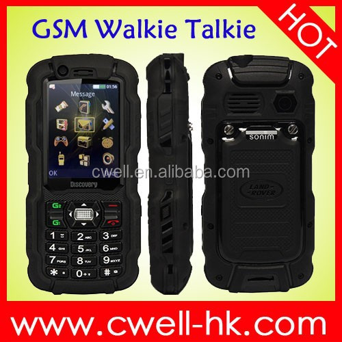 Hot new products for 2015 cheap rugged IP67 waterproof Dual SIM analog tv mobile phone discovery a12i with Walkie Talkie functio