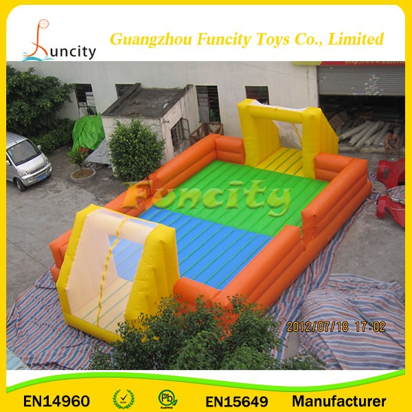 plato 0.6mm or 0.9mm PVC tarpaulin attractive Cheap Price outdoor inflatable football field
