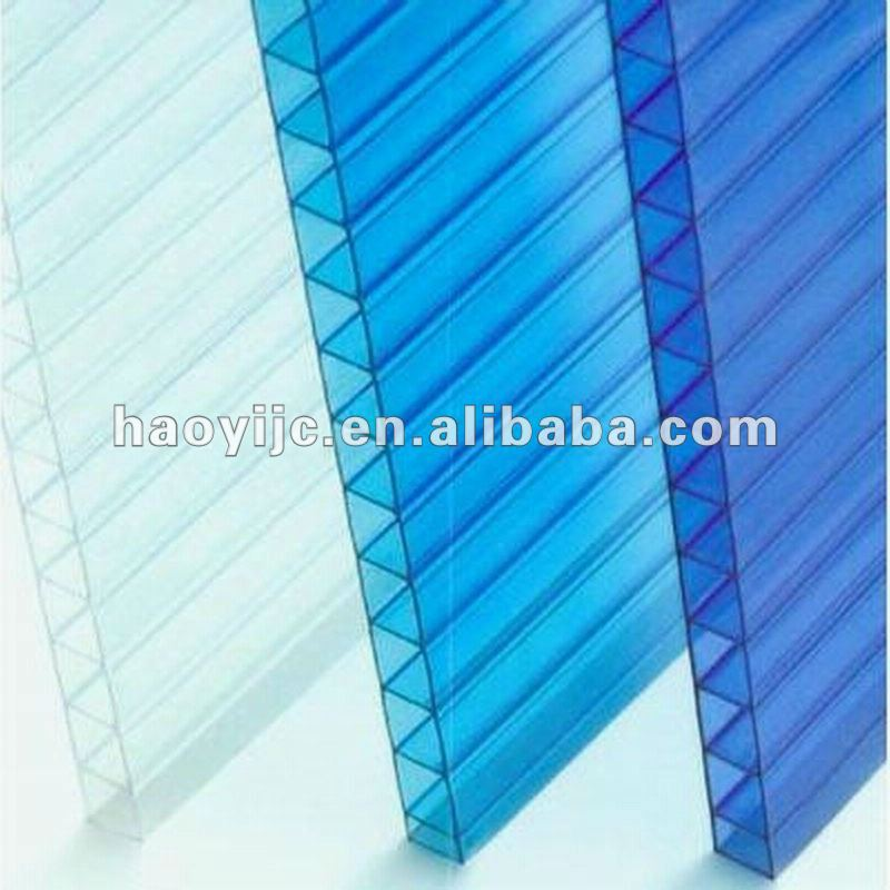 pc hollow sheet for skylight system greenhouse roofing material